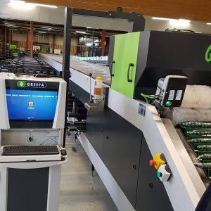 Máquina para el procesamiento de frutas alargadas,.
